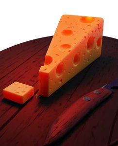 cheese piece 3D model