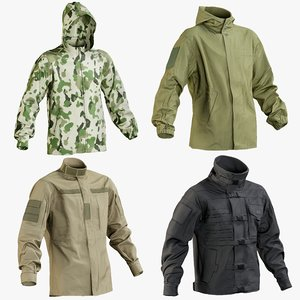 realistic military jacket 1 3D