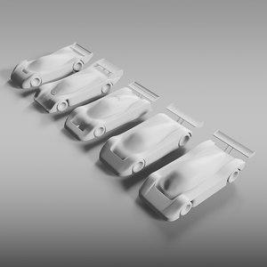3D car base body group model