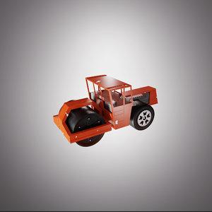 steamroller toy modeled 3D model