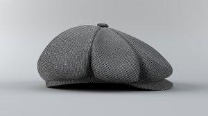 3D english man s hat model