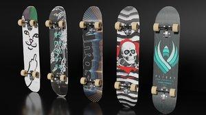 3D 5 skateboard pack