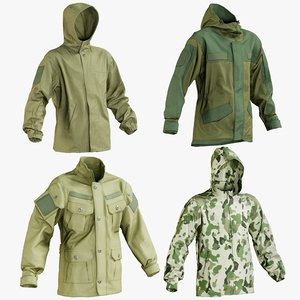 realistic hunting jacket 1 model