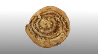 3D scanned nut spiral pastry