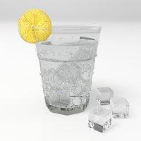 glass water fizzy model