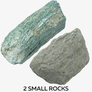2 small rocks 3D model