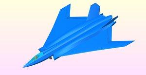 3D british tempest military aircraft model