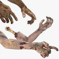 zombie hands rigged 3D