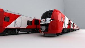 swallow lastochka train rzd 3D model