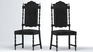 chair furniture armchair 3D model