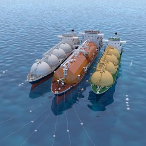 3D floating gas storage tanker ships