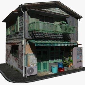 3D japanese okonomiyaki restaurant