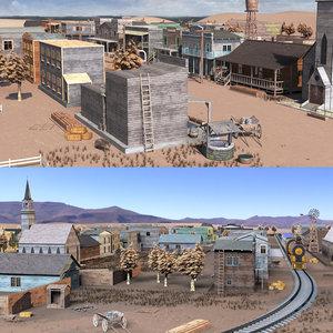 3D western town west model