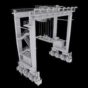 rtg gantry crane 3D model