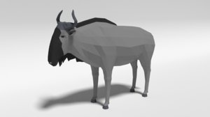 3D model gnu wildebeest