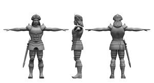 historical spartan soldier 3D model