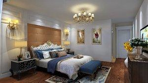dressing room bedroom plinth 3D