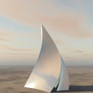 3D chrome pyramid