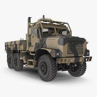 Military Medium Cargo Truck 6x6 Sand Camo