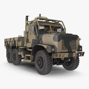 military medium cargo truck 3D model