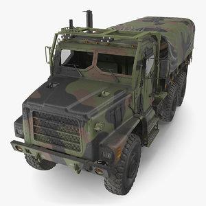 3D military medium cargo truck