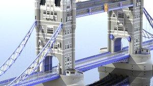 3D tower bridge london
