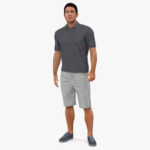 3D man casual style street