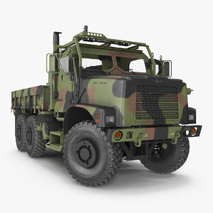 military cargo truck oshkosh 3D