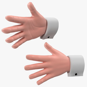 3D cartoon man hands