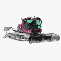 Snowcat with Snowplow Pistenbully