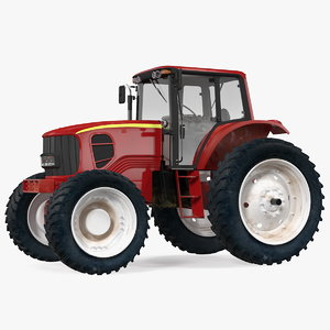 tractor generic red 3D