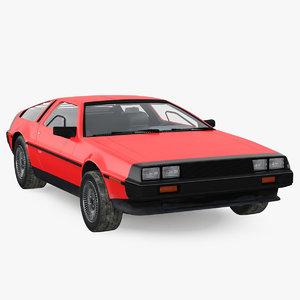 3D 80s sport car generic