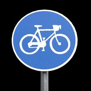 compulsory cycle roadsign 3D model