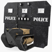Damaged RBS1 SWAT BOT Robotic Ballistic Shield