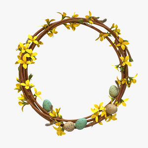 3D easter wreath