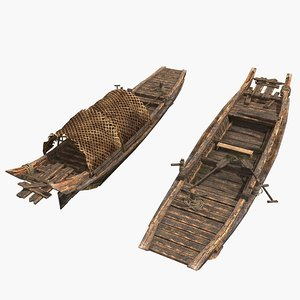 chinese fishing boat 3D