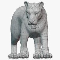 Lion (Big Cat) Base Mesh