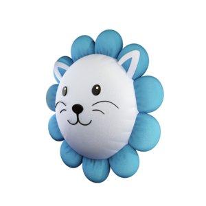 3D lion pillow