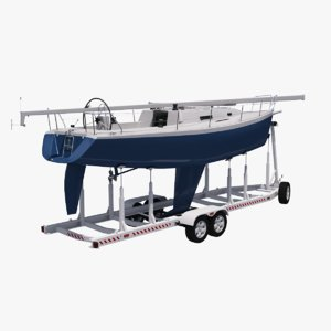 sailboat trailer model
