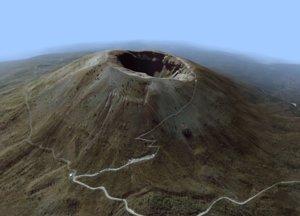 3D model volcanic mount vesuvius