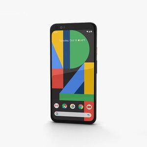 3D google pixel 4 model