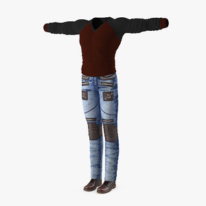 urban style clothing 3D model