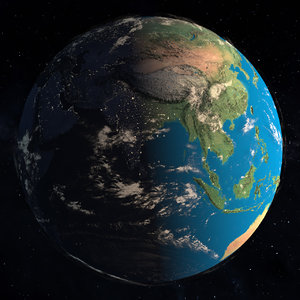 3D earth day night