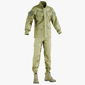 3D realistic hunting pants jacket model