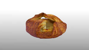 scanned curd cheese turnover 3D model