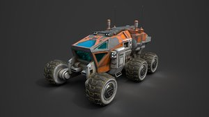 3D space rover mars