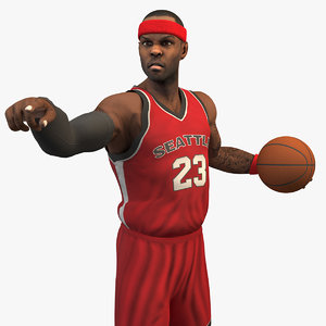 3D model rigged basketball player 8k