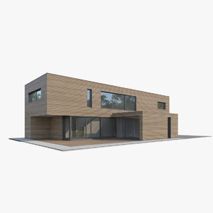 contemporary apartment house 3D