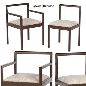 3D densen armchair dining chair
