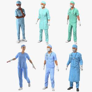 rigged doctors 3 3D model
